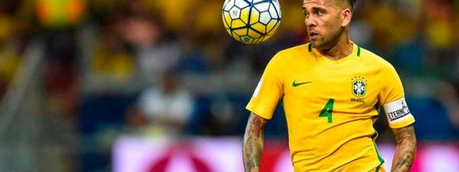 Lesão tira Daniel Alves da Copa do Mundo da Rússia